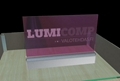 Acrylic LED Edge Lit Sign with Laser Engraving Logo, Acrylic Light Up Sign Desk