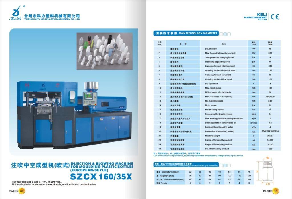 SZCX160/45X 一步三工位注吹机
