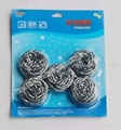 5PK 15g Spiral Metal Pot Scourer In Blister Card