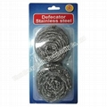 2PK Spiral Stainless Steel Scourer In Blister Card
