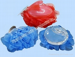 35g Bath Mesh Sponge With Plastic Handle (YQ1017)