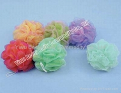Silk Material Dual Layer Mesh Bath Sponge (YQ1004)