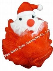 Christmas Santa Claus Animal Bath Sponge(YQ1036)