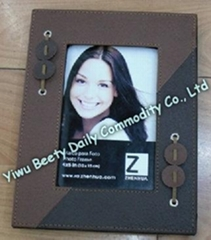 "4''*6"" Leather Photo Frame With Decoration"
