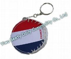Round Coin Bag & Keychain Flag Design