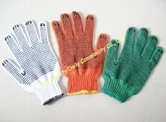 Pvc Dotted Cotton Knitted Safety Working Gloves
