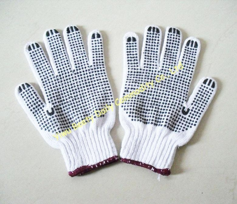 Pvc Dotted Cotton Knitted Safety Working Gloves 2