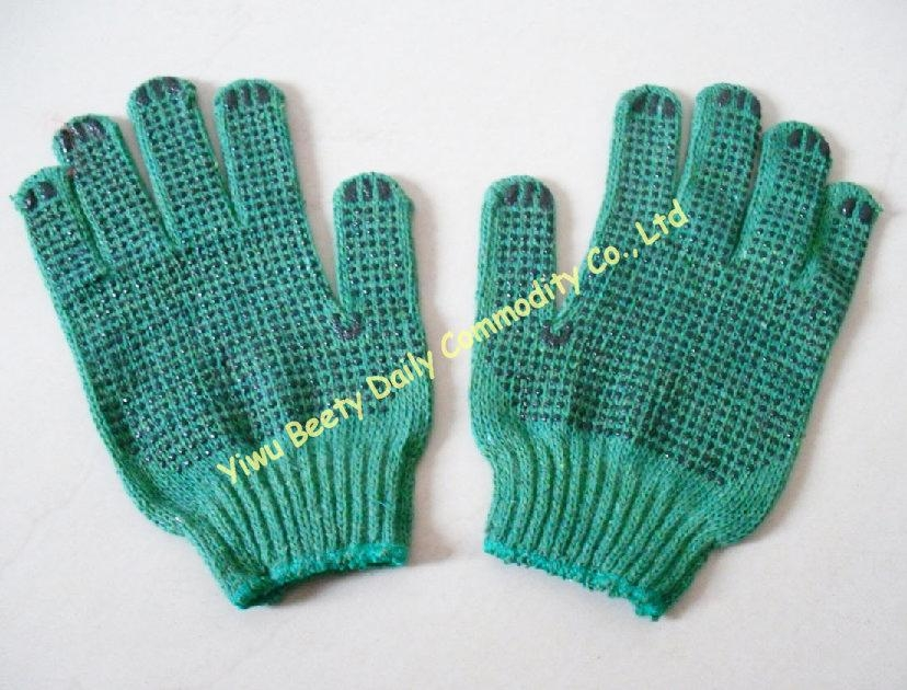 Pvc Dotted Cotton Knitted Safety Working Gloves 4