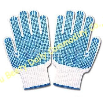 Pvc Dotted Cotton Knitted Safety Working Gloves 5