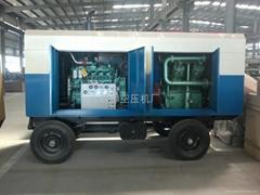 6立方150公斤壓力柴油移動式空氣壓縮機