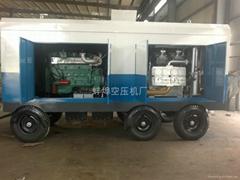 15立方60公斤壓力柴油移動式空氣壓縮機