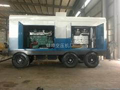 18立方80公斤压力柴油移动式空气压缩机