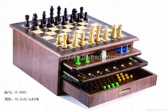 Wood game set