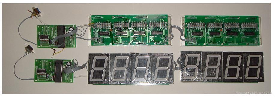 RS232串口控制LED數碼管電子顯示系統 1