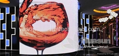 P7mm Flexible portable LED screen display
