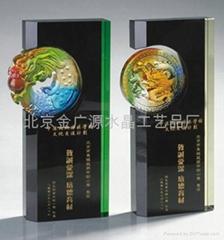 北京水晶奖杯图片