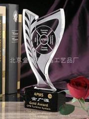 北京水晶奖杯制作