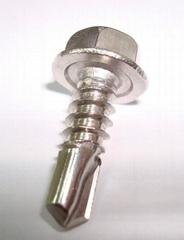 410、304不鏽鋼五號尾鑽尾螺釘能一次性穿透12MM厚板