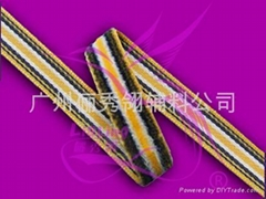 丝绒带间色绒