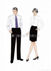 厦门办公制服时尚套装
