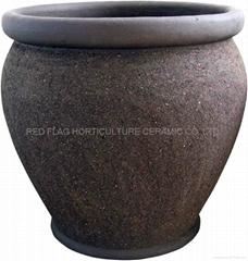 glazed garden pottery