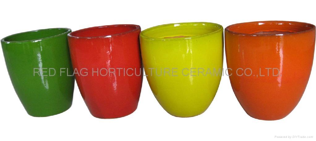 Fine glazed flower pots 1