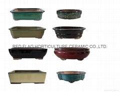 glazed bonsai pots
