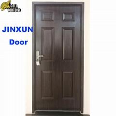 American steel door with Black walnut