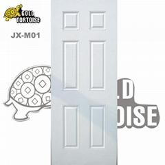 6 panel steel door with wood edge (interior door &exterior door)