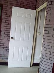 steel panel door with wood edge, iron cold steel door