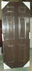 (inteiror steel door),2 panel black walnut,steel panel door
