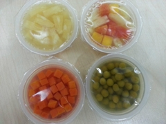 fruit cup & vegetable cup