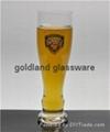 收腰玻璃啤酒杯定制扎啤杯厂家