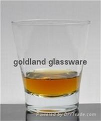 威士忌杯定制玻璃厚底洋酒杯厂家