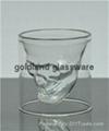 金兰耐高温双层玻璃骷髅杯定做