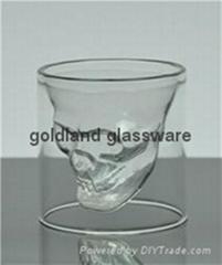 金蘭耐高溫雙層玻璃骷髏杯定做