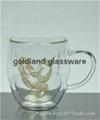 耐热玻璃双层把手杯定制咖啡杯厂
