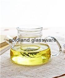 Handmade Borosilicate glass tea pot  2