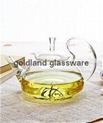 金兰耐高温玻璃茶壶定制大号玻璃花茶壶厂家