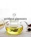 Handmade Borosilicate glass tea pot  3