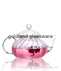 Handmade Borosilicate glass tea pot  4