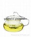 Handmade Borosilicate glass tea pot  5