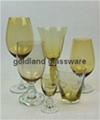 金兰彩色玻璃杯定制炫彩玻璃厂家