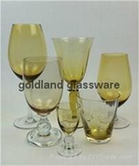 金蘭彩色玻璃杯定製炫彩玻璃廠家