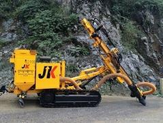 宣化金科全新一代JK590C履帶式液壓潛孔鑽機帶除塵器