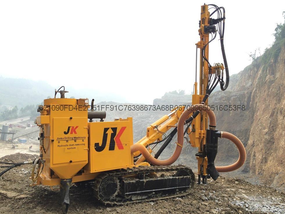 宣化金科全新一代jk590c履带式液压潜孔钻机带除尘器图片