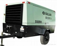 四川成都美國壽力550RH柴動式螺杆空壓機技術參數