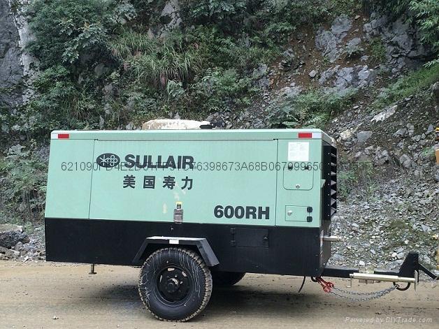 四川成都美國壽力550RH柴動式螺杆空壓機技術參數   5