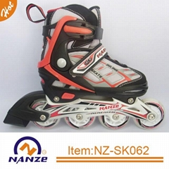 Roller fun 4 size adjustable semi soft inline roller skate shoe