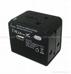 全球通旅行轉換器帶USB充電